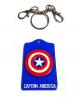 Protector de tarjetas acrílico CAPITÁN AMERICA
