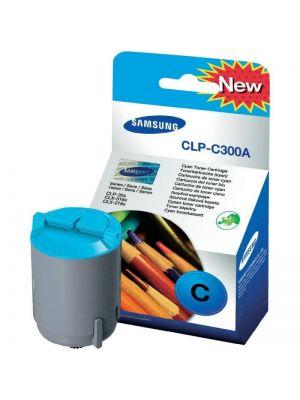 Toner cian original Samsung CLP-C300A Caja dañada
